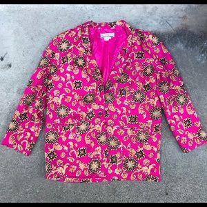 Jackets & Blazers - Vintage 80's SK & Company Women's Pattern Blazer
